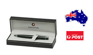Sheaffer 300 Glossy Black Ball Point Pen Chrome Trim - Gift Box - Christmas Xmas