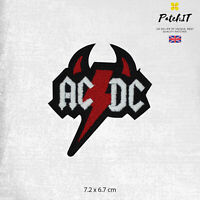 AC/DC Music Band Logo Patch Iron On Sew On Badge Embroidered Patch
