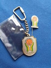 keychain and pin set Basketball tournament Srbobran 1980 80 Yugoslavia key ring