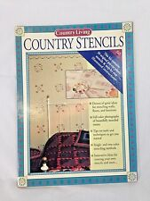 COUNTRY LIVING  - 10 Pre-cut - COUNTRY STENCILS - NIP