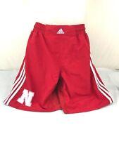 Adidas sz Adult Large Nebraska athletic shorts red