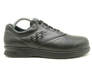SAS Free Time Black Leather Comfort Lace Up Sneaker Oxfords Shoes Women's 8.5 M