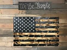 Distressed Black & Burnt Flag with Secret Compartment