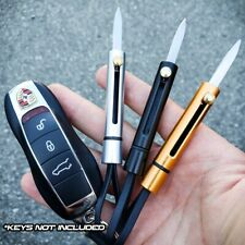 Outdoor Stainless Blade EDC Pocket Sliding Steel Knife Keychain Survival Tool