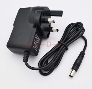 UK plug Power adapter DC 3V 1A 200mA 300mA 400mA 500mA 600mA 800mA 5.5mm x 2.1mm