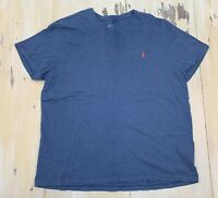 POLO RALPH LAUREN - Blue Cotton T-shirt, Pony Logo, Mens XXL - MUST SEE!