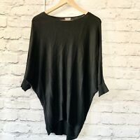 PHASE EIGHT Batwing Jumper  Size XS Black  | Smart Casual Warm