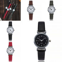 Women Casual Leather Strap Watches Quartz Analog Round Dial Wrist Watch Gift NEW