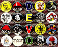 DEVO 20 x NEW buttons pins badges punk new wave de evolution stocking stuffer