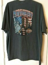 Vintage T-Shirt 9/11 New York City Harley-Davidson Fireman FDNY Twin Towers 2XL