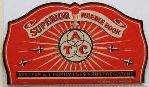 Superior Needle Book ATC Japan Threader 69 of 70 Needles Sewing Vintage #1
