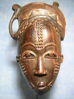 AFRICANTIC MASQUE BAOULE RCI ART AFRICAIN ANCIEN STATUE AFRICAINE AFRICAN MASK