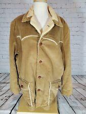 VTG PIONEER WEAR Corduroy Coat Jacket Albuquerque Camel Western Rockabilly 46