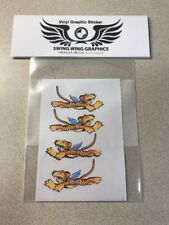 Flying Tigers Vinyl Decal Stickers Swing Wing Graphic RC Airplane P-40 Warhawk