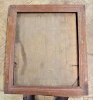 Ancien Cadre Bois vers 1900 Old Wood Frame for Painting Table Poster 36 x 42 cm