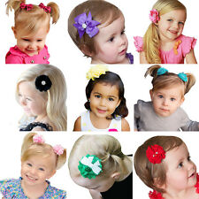 12Pcs Baby Girl Toddler Kids Flower Headwear Hair Clips Hairpin Bow Accessories