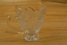 Crystal Creamer Pitcher Star Of David Pattern?? Clear Approx. 3 1/2 Inches Tall