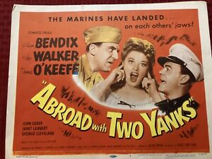 Abroad With Two Yanks Lobby Card 1950 Re-release Of 1944 Movie 11x14