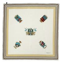MARIA LAURA S KINGDOMS BEIGE LARGE Silk Scarf 34/35 INCHES MADE IN ITALY
