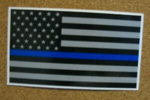 Back the Blue Police Flag Sticker NEW