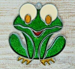 Vintage Suncatcher Big Eyed Frog Window Decoration Ornament Froggy