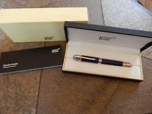 Montblanc Jules Verne Kugelschreiber blau/silber Aufbewahrungsetui