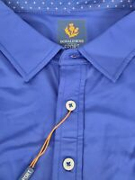 Donald Ross Sport Tommy Polo Golf Shirt Navy Blue Short Sleeve Spanish Trail XL