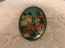 Joan Baker Designs Handpainted Art Glass Suncatcher Translucent Butterfly