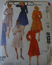 McCall's Pattern #8128 size 20 22 24; cut to fit dress pattern No UPC