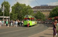 PHOTO  GERMANY HANNOVER 1991 TRAM DUEWAG CAR