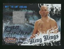 "2008 Donruss Playoff MATT ""The Law"" LINDLAND Ring Kings auto jersey /500 UFC"
