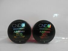 CND ENHANCEMENTS ADDITIVES ~ PIGMENT EFFECT ~ BRIGHT RED ~ 2 PACK ~ .14 oz Each!