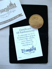 "Disneyland 45 Years of Magic Coin + 2000 Walt Disney Travel Co 1.56""D FREE Ship"