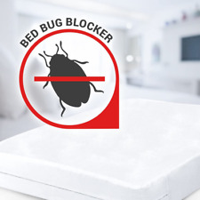 Zippered Mattress Protector Encasement Bed Bug Water Proof Noiseless Cover