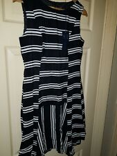 BNWT Womens Black and White Marks and Spencer Sleeveless Dress. Size 10 Petite.
