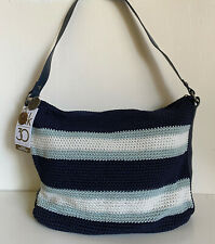 NEW! THE SAK RIVIERA PINECREST NAVY STRIPE CROCHETED HOBO SHOULDER BAG PURSE $99