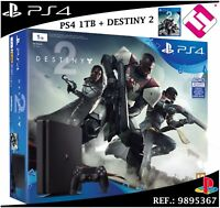 VIDEOCONSOLA SONY PS4 PLAYSTATION 4 1TB SLIM + JUEGO DESTINY 2 TOP VENTA CONSOLA