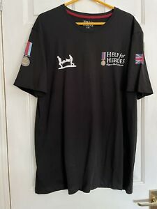 Help for Heroes Classic Crew Neck T-Shirt - Black - Size Xxl