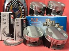 YCP B16 B18 B20 84.5mm Oversize HighComp Pistons+Rings + Bearing kit Honda Acura