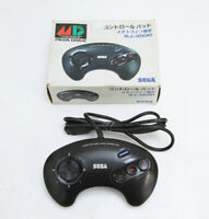 Genesis Mega Drive Sega Game Controller Black SJ-3500 Boxed Working