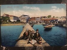 1914 Durazzo Albania  Picture Postcard Cover to Vienna Austria men on Dock