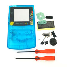 Crystal Blue Pokemon Eevee Housing Shell Case for Nintendo Game Boy Color GBC