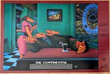 """Markus Pierson HUGE Poster — """"""""THE CONTINENTAL"""" — SIGNED — MINT"""