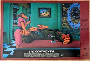 "Markus Pierson HUGE Poster — """"THE CONTINENTAL"" — SIGNED — MINT"