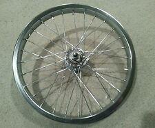 "1 NEW 16""  FRONT CHROME BICYCLE  RIM 16X1.75,  28 SPOKE 14G"