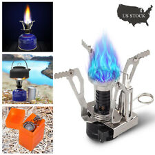 Portable Camping Steel Stove Outdoor Picnic Hiking Foldable Mini Gas Burner
