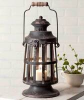 Farmhouse CURTIS ISLAND CANDLE LANTERN Holder Rustic Primitive Country Vintage