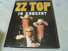 """Framed Zz Top In Concert Poster Marek Lieberberg & Ossy Hoppe 30 1/4"""" X 24 1/4"""""""