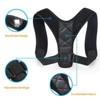 Adult Kid Posture Corrector Support Magnetic Back Shoulder Brace Belt Adjustable