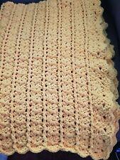 New! Handmade Crochet Blanket Throw Afghan  - Yellow